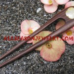 hair stick wooden shell