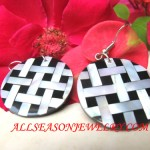 Black White Earring