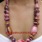 Wooden Necklace Painted