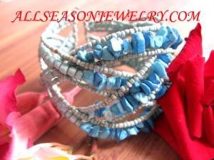 bead stones bracelet turquoise