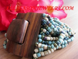 wooden buckle bead bracelets