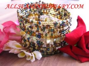 beads seed cuff bracelet