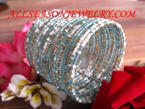 Bead Wire Cuff Bracelet