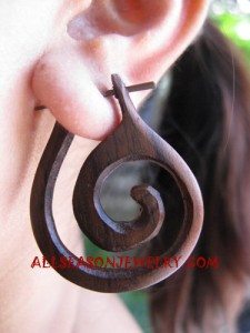 Wooden Earring Natural