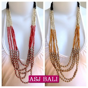 bali fashion bead necklaces multi strand 2014