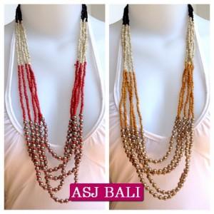 bali fashion bead necklaces multi strand 2014