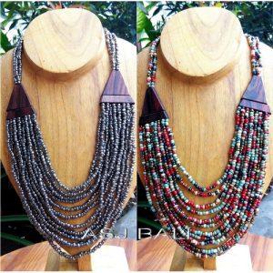new classic handmade ethnic design women necklaces made from wood, ethnic wooden necklaces made in bali indonesia , best manufacture handmade necklaces ...
